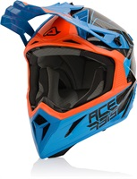 Каска Steel Carbon Orange/Blue